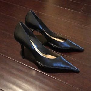 Black Pointy Toe Heels - Fits like a size 10